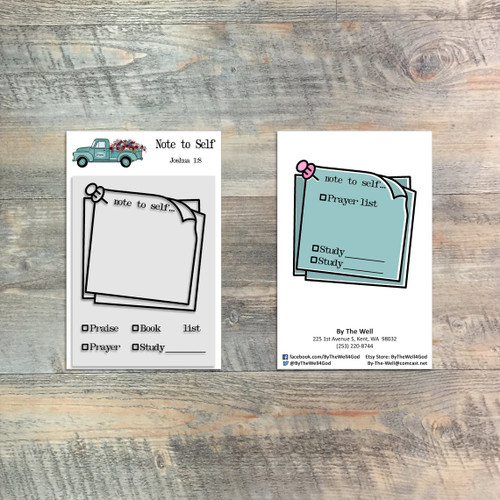 Note To Self Stamp Set - 6 Piece 3x4 Stamp Set