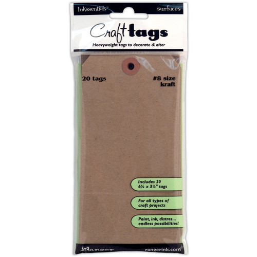 Inksentials Brown Kraft Tags 20/Pkg - Tag #8