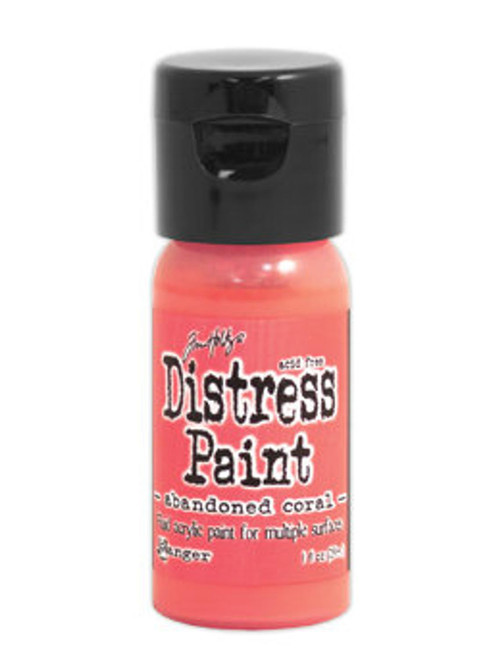 Abandoned Coral Distress Paint - Fluid Acrylic - Flip Top - 1 oz