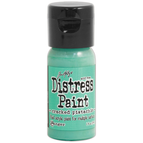 Cracked Pistachio Distress Paint - Fluid Acrylic - Flip Top - 1 oz