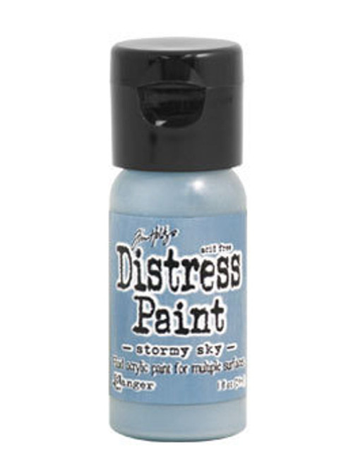 Stormy Sky Distress Paint - Fluid Acrylic - Flip Top - 1 oz