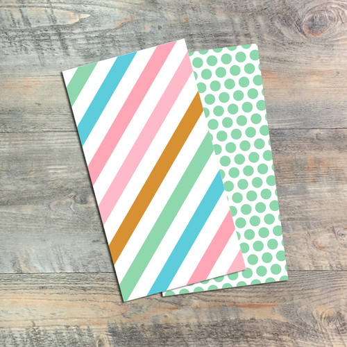 Greener Grass Blank Journals - Pair of Custom Travelers Notebook Inserts - 2 Notebook Inserts- Inserts for Dori