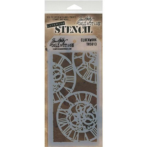 Clockwork Layering Stencil - Stampers Anonymous - Tim Holtz- Great for backgrounds!