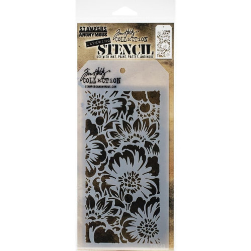Bouquet Layering Stencil - Stampers Anonymous - Tim Holtz- Great for backgrounds!