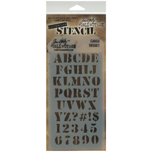 Cargo Layering Stencil - Stampers Anonymous - Tim Holtz- Great for backgrounds!