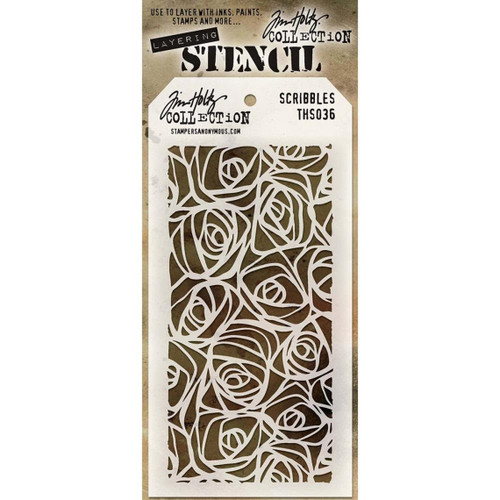 Scribbles Layering Stencil - Stampers Anonymous - Tim Holtz- Great for backgrounds!