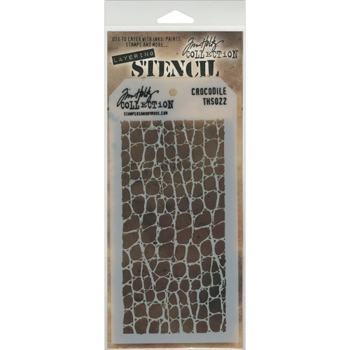 Crocodile Layering Stencil - Stampers Anonymous - Tim Holtz- Great for backgrounds!