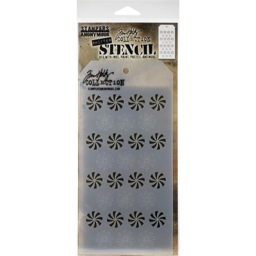 Shifter Peppermint Layering Stencil - Stampers Anonymous - Tim Holtz- Great for backgrounds!
