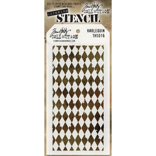 Harlequin Layering Stencil - Stampers Anonymous - Tim Holtz- Great for backgrounds!