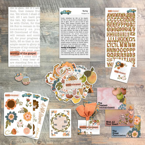 Worthy of the Gospel by Christina Lowery - Devotional Kit for Bible Journaling from ByTheWell4God