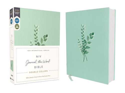 NIV, Journal the Word Bible, Double-Column, Cloth Over Board, Teal, Red Letter Edition, Comfort Print