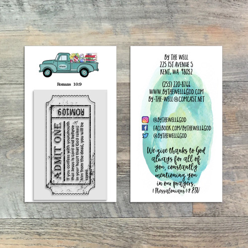 Romans Ticket - 2x3 Stamp - ByTheWell4God