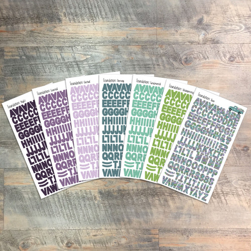"Foundation Clear Stickers - 7 Sheets of Clear Stickers, Inspired by ""This I Know"" - For the margins of your Bible!"