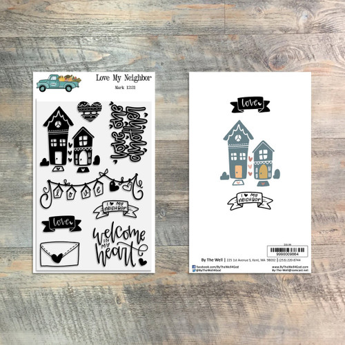 Love My Neighbor Stamp Set - 8 Piece Stamp Set - ByTheWell4God