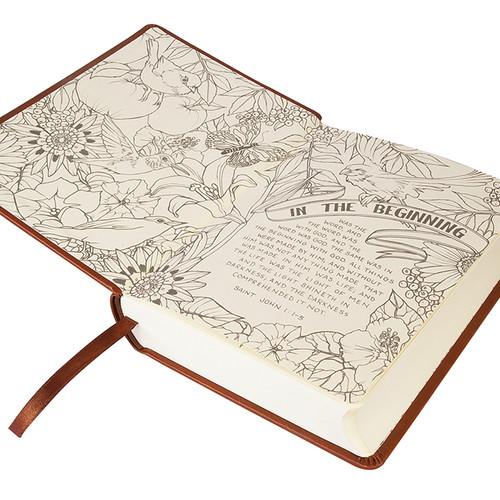 KJV My Creative Bible, Brown Ornate LuxLeather