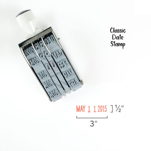 Mega Date Stamp - Classic or Hand Lettered - by Studio Calico - Perfect for Bible Journaling