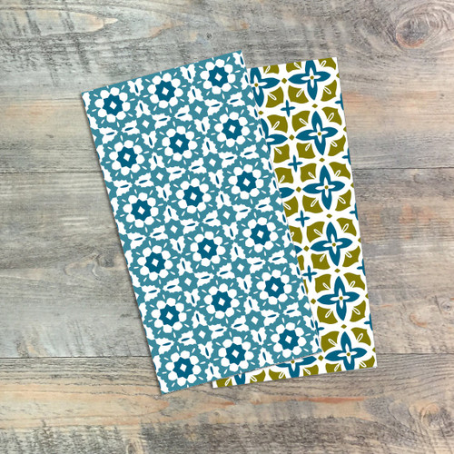 Adorned - Blank Journals - Pair of Custom Travelers Notebook Inserts - 2 Notebook Inserts- Inserts for Dori