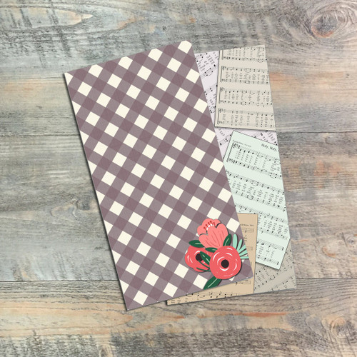 Holy, Holy, Holy - Blank Journals - Pair of Custom Travelers Notebook Inserts - 2 Notebook Inserts- Inserts for Dori