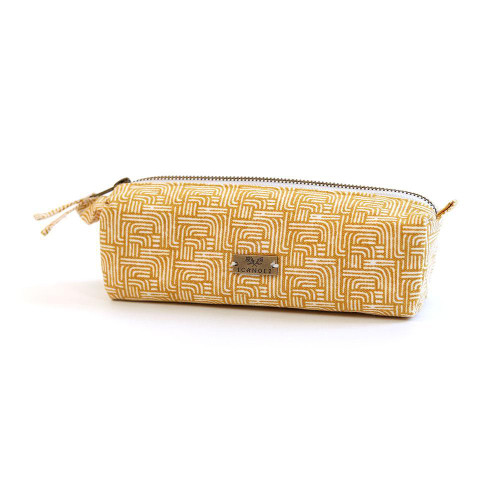 Gold Stripe Pencil Pouch - Tote