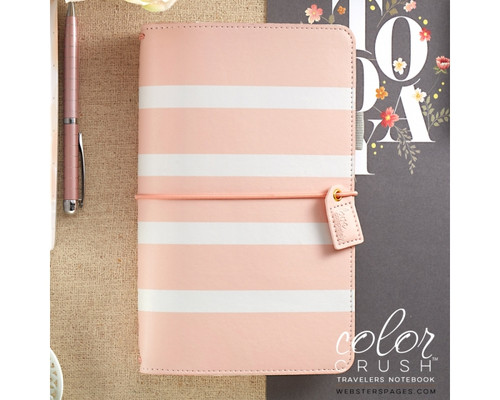Travelers Notebook - Webster's Pages - Blush Stripe Dori - Journal your thoughts for Bible Journalling!