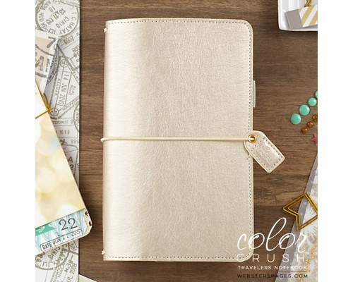 Travelers Notebook - Webster's Pages - Champagne Dori - Journal your thoughts for Bible Journalling!