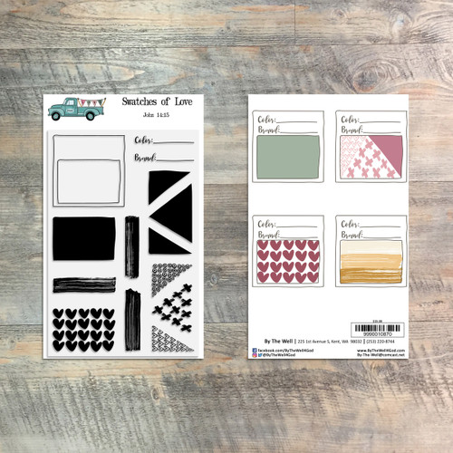 Swatches of Love - 14 Piece Stamp Set - ByTheWell4God