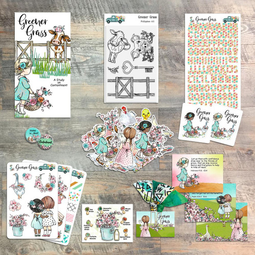 Greener Grass - a Study on Contentment - Devotional Kit for Bible Journaling - from ByTheWell4God