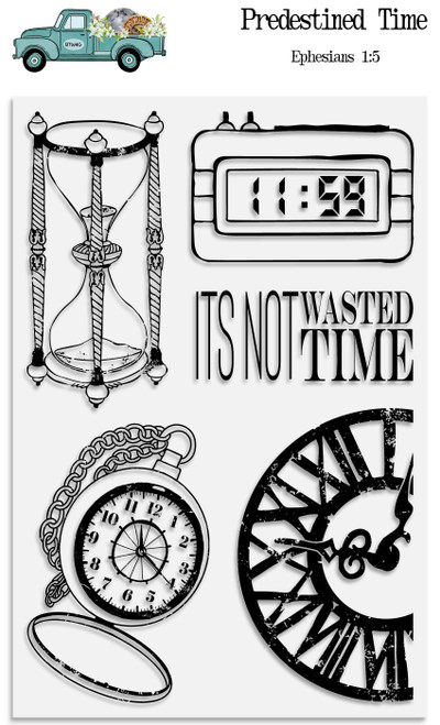 Predestined Time - 5 Piece Stamp Set - ByTheWell4God