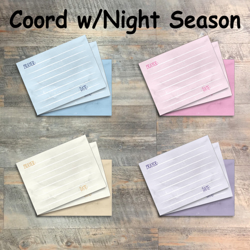 "Prayer Cards: Bruised Journaling Cards - 12 3x4 Cards in Colors to Match ""In The Night Season"" Kit"