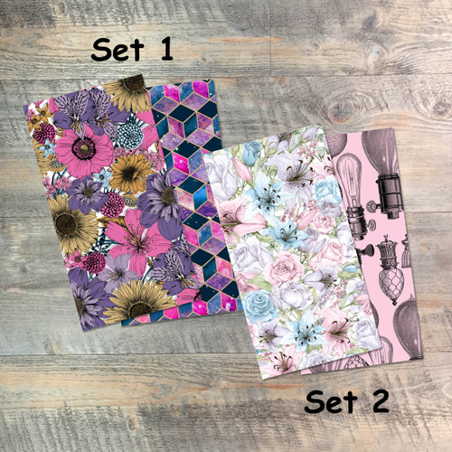 In The Night Season - Blank Journal Set  - Pair of Custom Travelers Notebook Inserts - 2 Notebook Inserts - Inserts for Dori