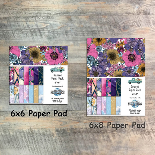 In the Night Season - Bruised Paper Collection - 24 Double Sided 6x6 or 6x8 Papers