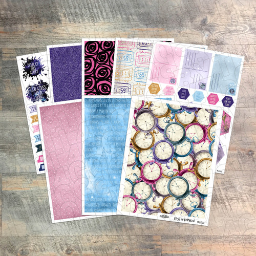 """Digital Paper Collection for """"In The Night Season"""" Devotional Kit - 8 Sheets of Coordinating Papers"""