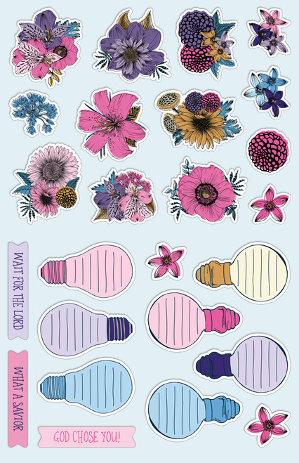 "Night Blooms - Cardstock Ephemera - Die-Cuts 25/Pkg - Coordinates with ""Our First Love"""