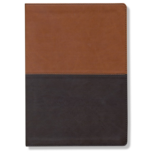 NLT Discover God Study Bible TuTone Leatherlike, Chestnut/Brown