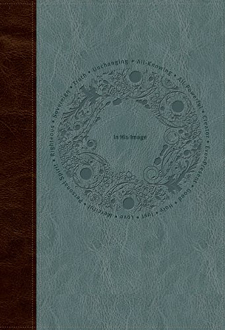 In His Image Devotional Bible NLT, TuTone (LeatherLike, Brown/Dusty Blue) Imitation Leather