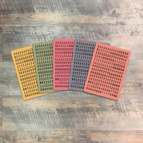 "Ordinance - Tile Alphabet Stickers - 5 Sheets of Tile Alphabet Stickers from BTW4G- Inspired by ""What Jesus Commands"""