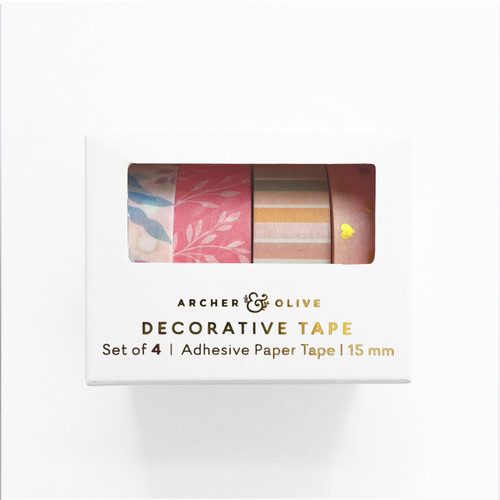 Blooming Day Washi Tape Set - WT302 - 4 rolls
