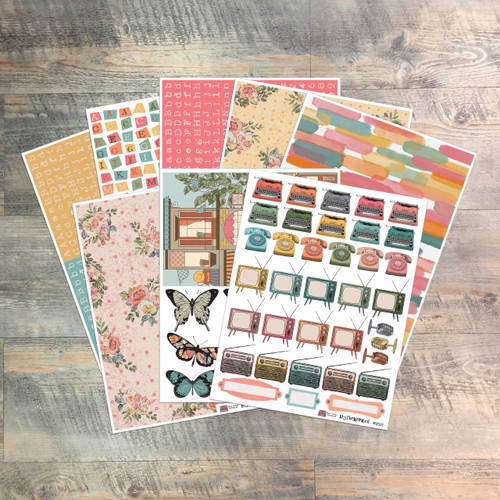 """Digital Paper Collection for """"What Jesus Commands"""" Devotional Kit - 8 Sheets of Coordinating Papers"""