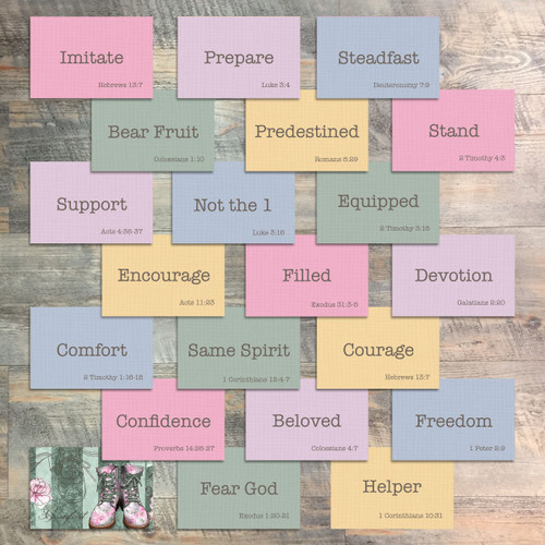 """Mini Flash Cards for Walk This Way - 20 2x3 Flash Cards in Colors to Match """"Walk This Way"""" Kit"""