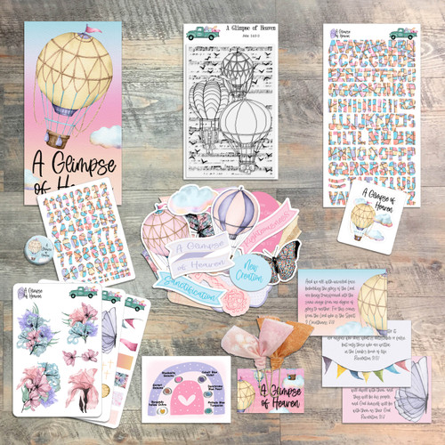 A Glimpse of Heaven - Devotional Kit for Bible Journaling