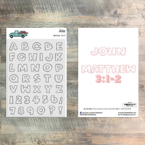 John - 6x8 Alpha Stamp Set - 39 Piece Stamp Set - ByTheWell4God