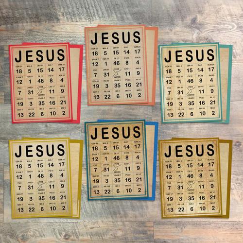 """Pointing to Jesus - Jesus Bingo Cards - Coordinates with the """"Pointing to Jesus"""" Devotional Kit"""