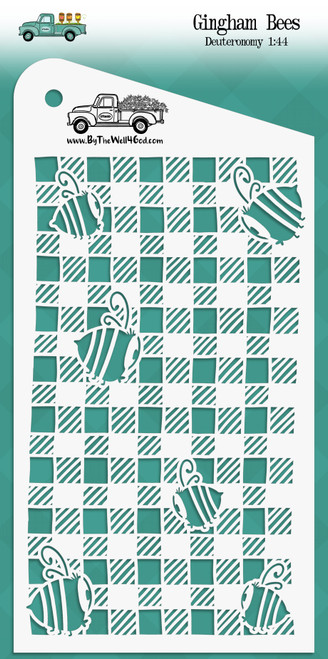 """Gingham Bees - Custom stencil to coordinate with """"Grow in Grace"""" - ByTheWell4God"""