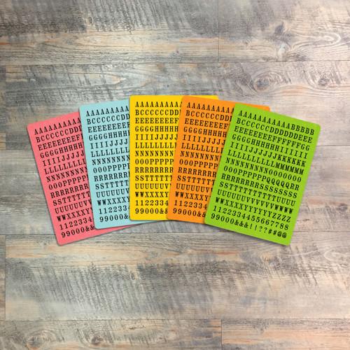 "Meditate - Tile Alphabet Stickers - 5 Sheets of Tile Alphabet Stickers from BTW4G- Inspired by ""Grow in Grace"""