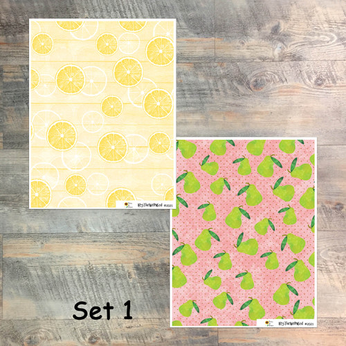 """Set 1: Digital Paper Collection for """"Grow in Grace"""" Devotional Kit"""