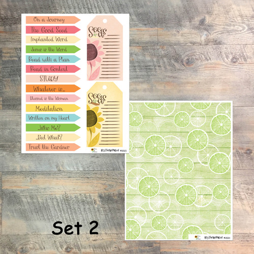 """Set 2: Digital Paper Collection for """"Grow in Grace"""" Devotional Kit"""