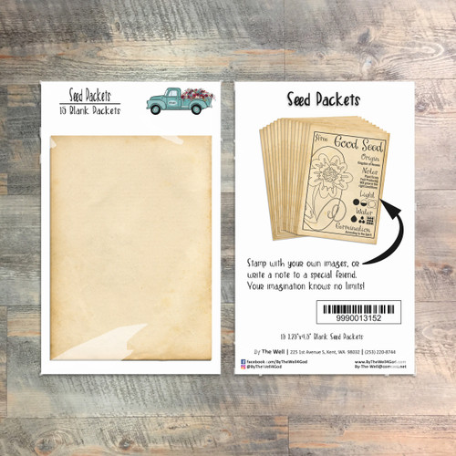Seed Packets - 15 Blank Packets -