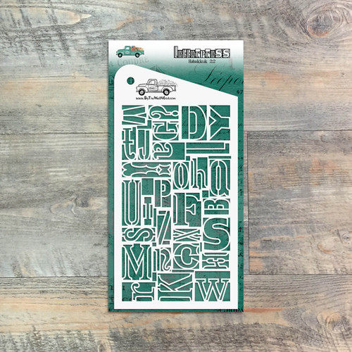 """Letterpress  - Custom stencil to coordinate with """"Famous Last Words"""" - ByTheWell4God"""