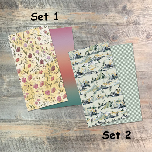 Fear the Lord - Blank Journal Set  - Pair of Custom Travelers Notebook Inserts - 2 Notebook Inserts - Inserts for Dori