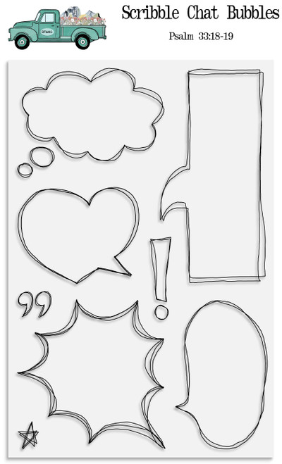 Scribble Chat Bubbles Stamp Set